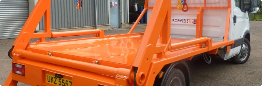 Skip Loader 3.5T to 5T chassis: 1500Kg to 3000Kg lift capacity